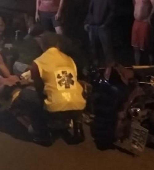 Acidente entre duas motos deixa dois feridos em Itapiranga.
