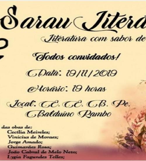 Escola Padre Balduíno Rambo de Tunápolis realiza o 3º Sarau Literário.