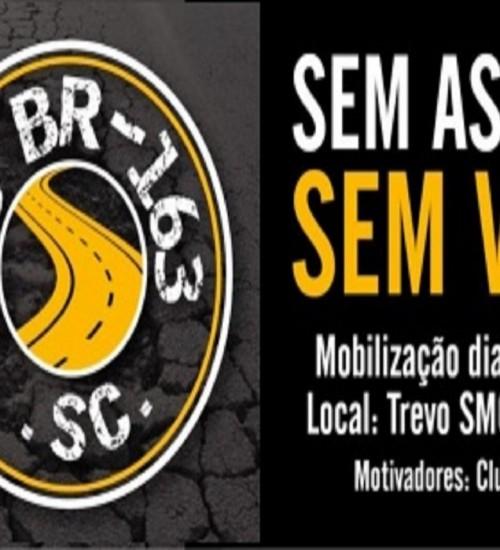 Clubes de Serviços do Extremo-Oeste lançam abaixo-assinado virtual da campanha S.O.S BR 163/SC.