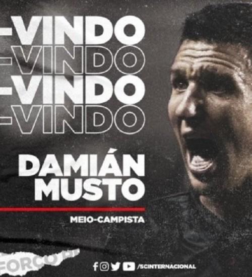 Inter anuncia contratação de Damián Musto.