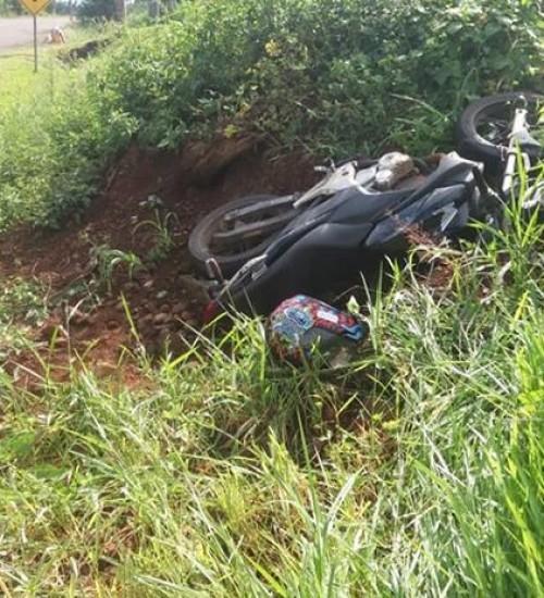 Motociclista ferido em acidente na SC-492.