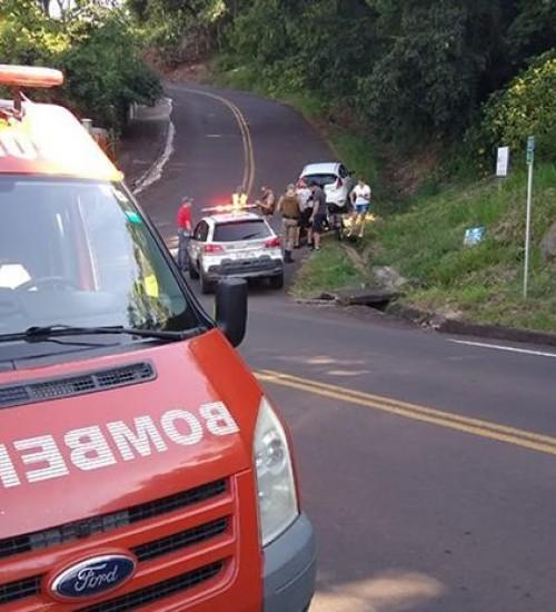 Dois feridos em acidente na ITG 070 em Itapiranga