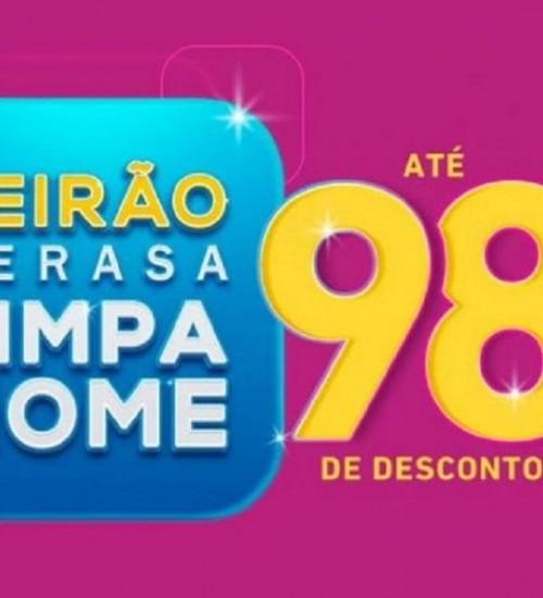 Feirão da Serasa renegocia dívidas com desconto de até 98%.
