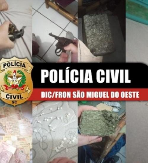 Seis pessoas são presas suspeitas de tráfico de drogas em São Miguel do Oeste e Bandeirante.