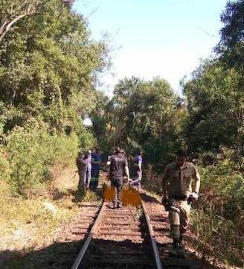 Amigos dormem no trilho do trem e homem morre atropelado em SC