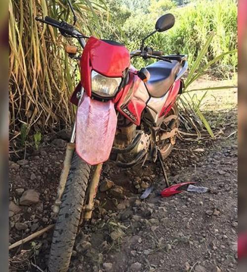 Homem ferido grave em queda de motocicleta no interior de Iporã do Oeste