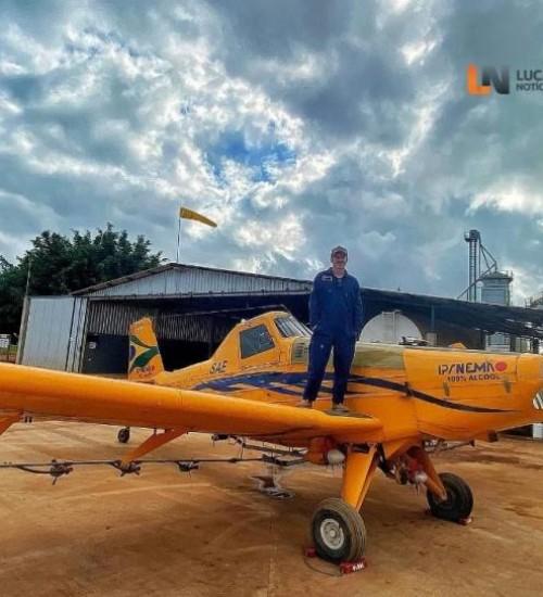 Queda de avião agrícola resulta na morte de ex-morador de Iporã do Oeste.