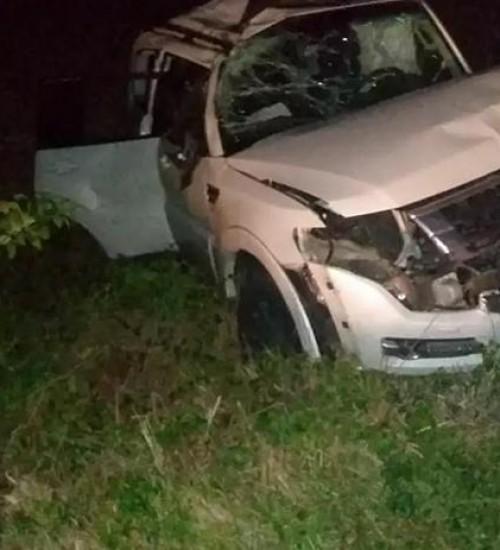 Ex-deputado João Rodrigues sofre grave acidente na BR-282.