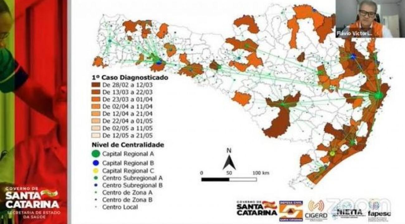 SC terá ferramenta para basear ações sobre o coronavírus de maneira regionalizada.