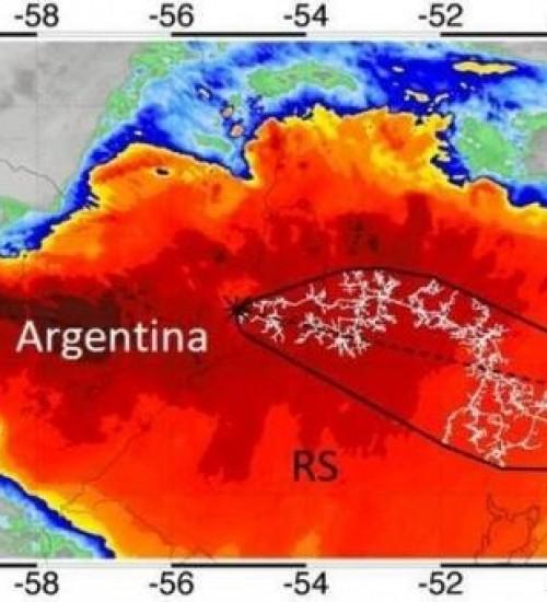 Maior raio do mundo em extensão começou em Santa Catarina, diz pesquisadora.