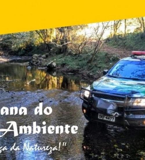 Polícia Militar Ambiental promove diversas ações alusivas ao Dia Mundial do Meio Ambiente.