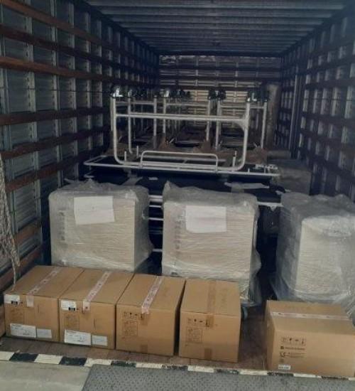 Saúde entrega equipamentos em unidades próprias para combate à pandemia em Santa Catarina.