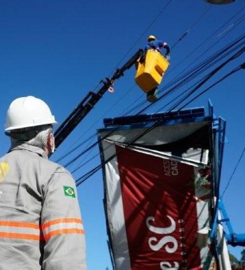 Celesc registra o maior dano da história na rede elétrica estadual.
