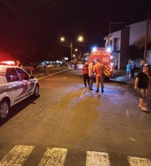Homem fica gravemente ferido após acidente no centro de Descanso