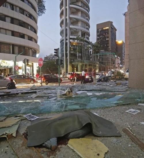Explosões em Beirute deixam 73 mortos e mais de 3.700 feridos.