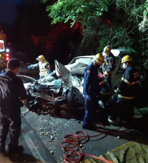 Condutor morre em grave acidente envolvendo quatro veículos na BR 282; entre São Miguel do Oeste e Maravilha