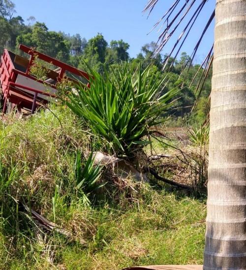 Idoso morre em acidente com carreta agrícola no interior de Itapiranga