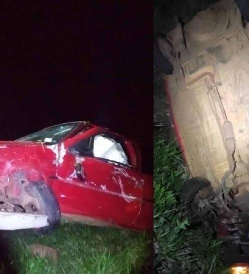 Carro de SMOeste se envolve em acidente após perseguição policial no Paraná