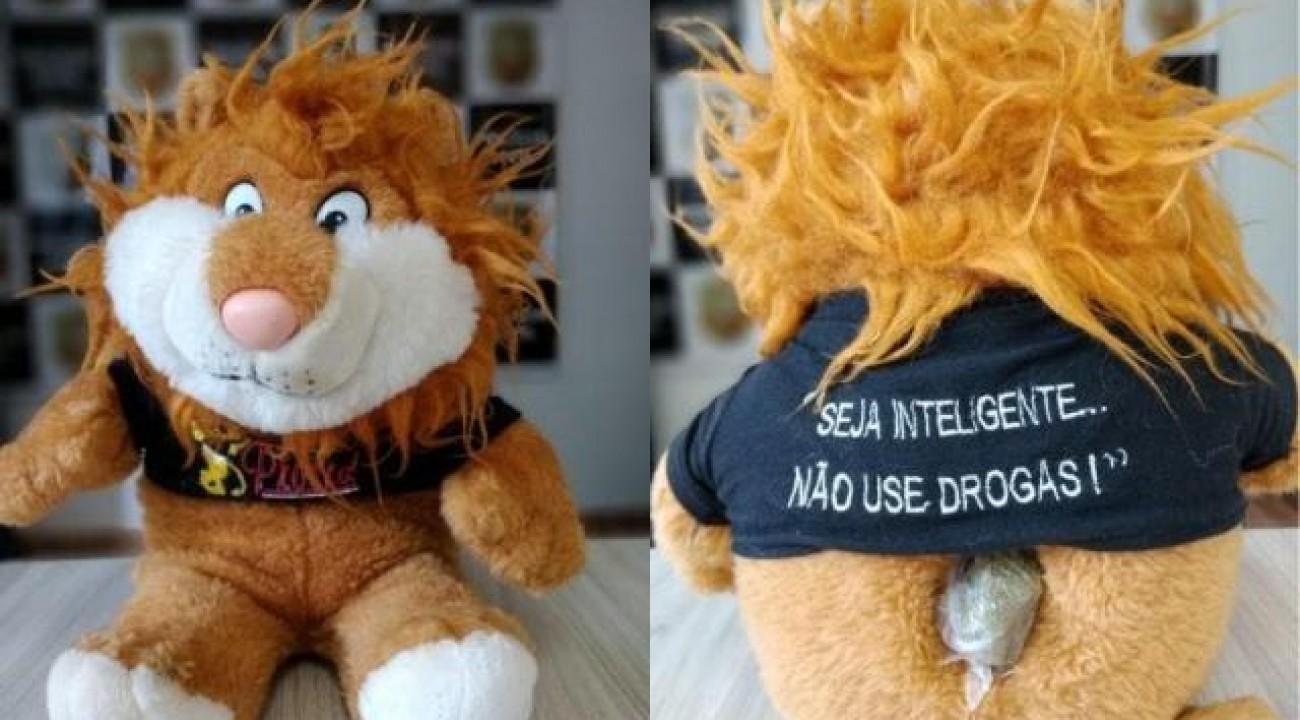 Droga é encontrada escondida em mascote de pelúcia do Proerd em Cunha Porã