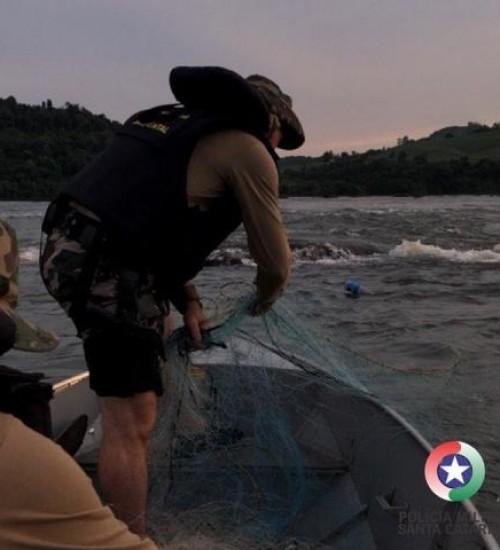 PMA apreende mais de 700 metros de redes em fiscalizações nos rios da Região