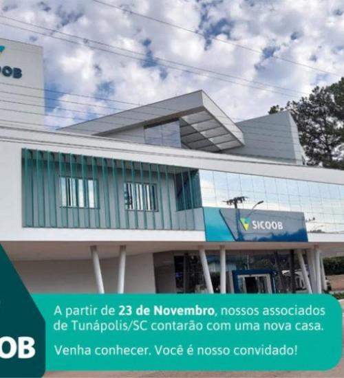 Sicoob Creditapiranga SC/RS inaugura novo espaço em Tunápolis.