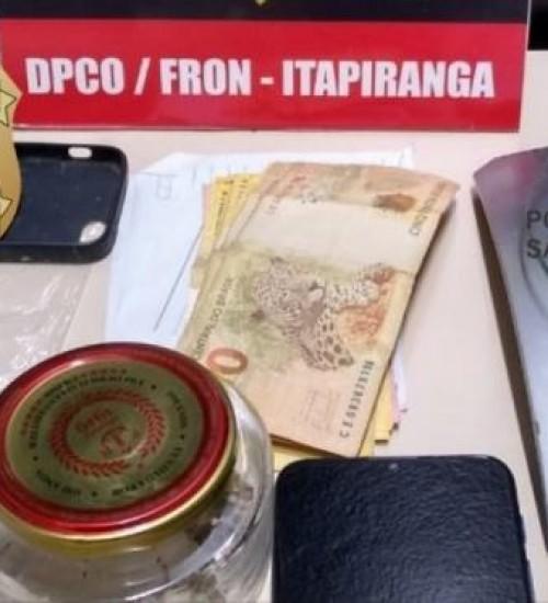 Homens que usavam crianças para traficar drogas são presos em Itapiranga.