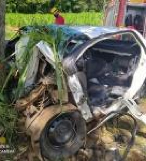 Homem fica gravemente ferido após acidente na BR-282 em Iraceminha.