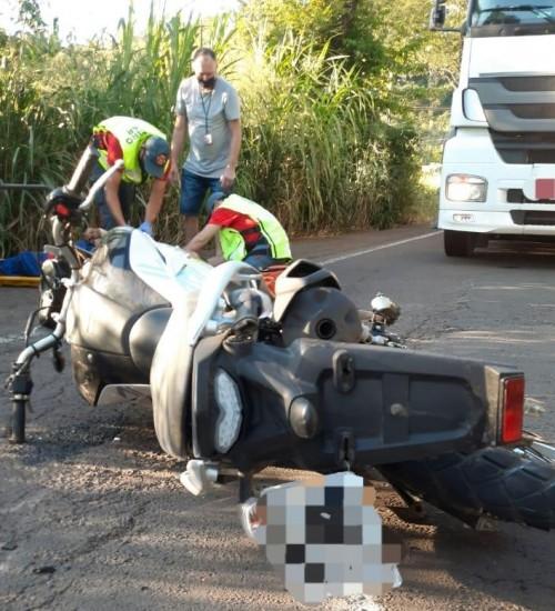 Acidente de trânsito na SC-163 em Itapiranga deixa uma pessoa ferida.