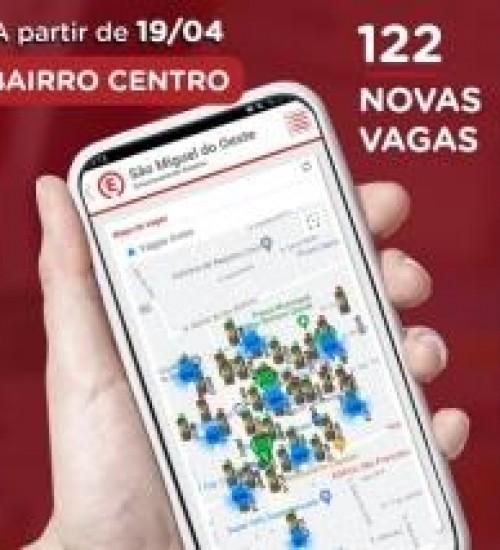 Estacionamento Digital amplia área azul em São Miguel do Oeste.