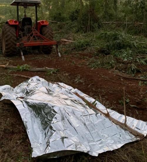 Homem é atingido por tronco de árvore e morre no interior de Mondaí.