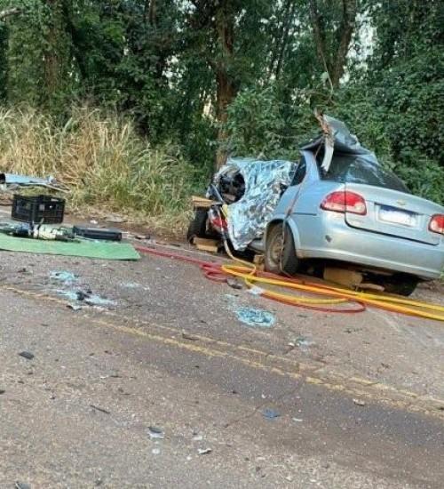 Grave acidente deixa quatro pessoas mortas na SC163 em Itapiranga.