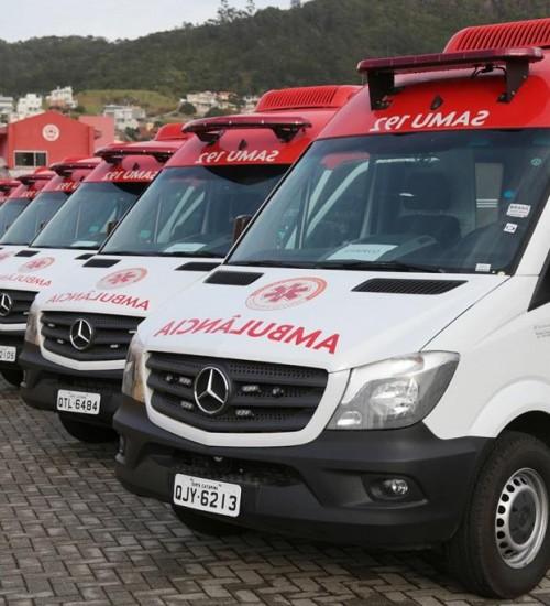 Samu catarinense receberá R$ 3 milhões para compra de ambulâncias.
