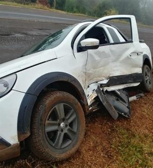 Acidente na BR-163 deixa homem ferido neste sábado em São Miguel do Oeste.