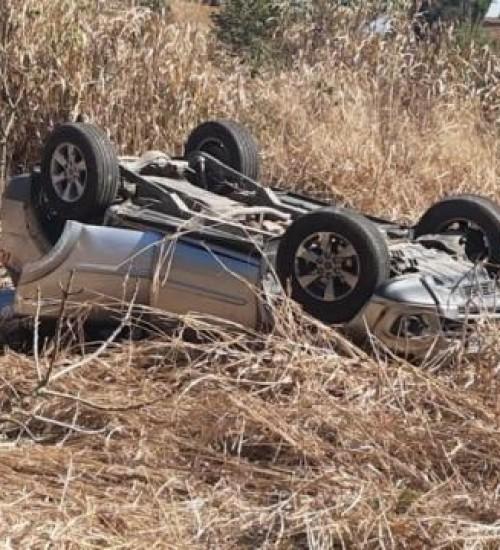 Deputado Coronel Mocellin sofre grave acidente com capotamento de carro no Oeste de SC.