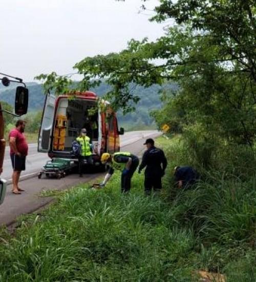 Motociclista é localizado aproximadamente seis horas após acidente