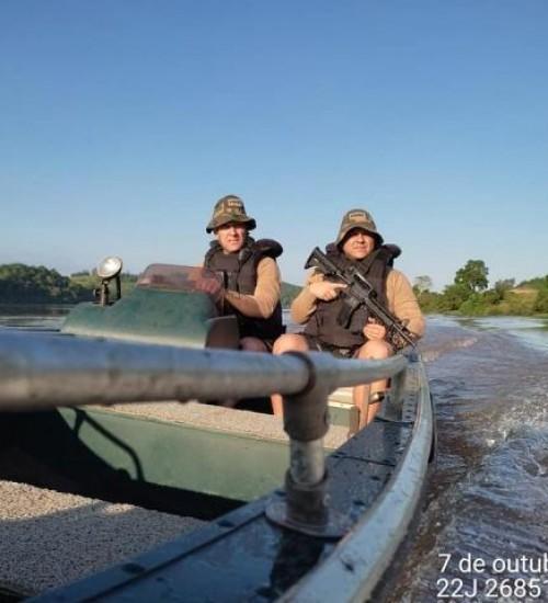 OPERAÇÃO HÓRUS: PMA apreende mais de 1,5 mil metros de rede de pesca durante fiscalização no Rio Uruguai.