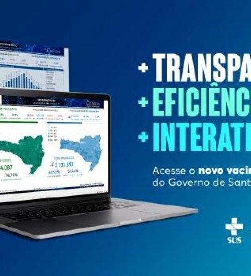 SC lança novo vacinômetro que garante mais eficácia nos dados da vacina contra a Covid-19.